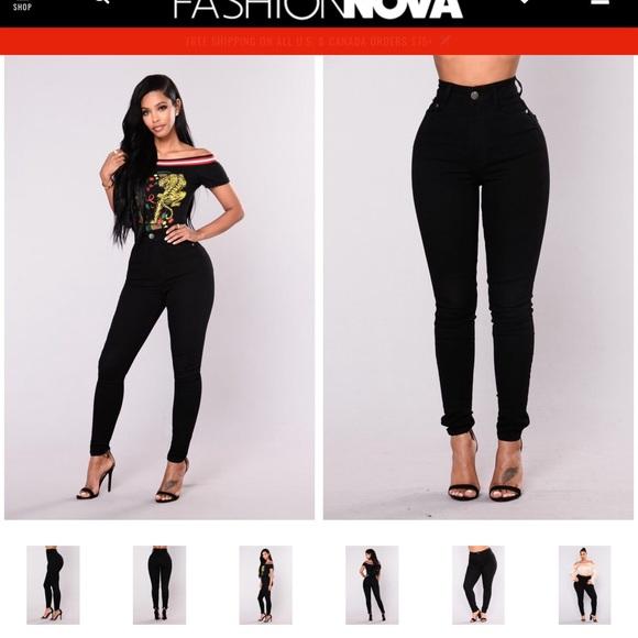 fed677782d2 Fashion Nova Coraline High Rise Jeans- Black